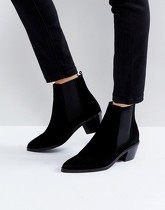 H by Hudson - Bottines en daim - Noir