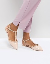 Dune London - Cayote - Chaussures plates cloutées - Rose