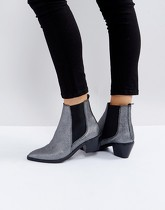 H by Hudson - Bottines en cuir - Gris