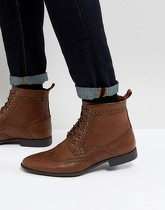 ASOS - Bottines Richelieu en similicuir - Fauve - Fauve