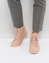 ASOS - Baskets montantes effet color block - Rose - Rose