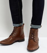 ASOS - Bottines Richelieu pointure large en similicuir - Fauve - Fauve