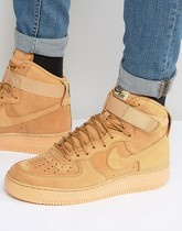Nike - Air Force 1 '07 LV8 - Baskets montantes cirées - Fauve 882096-200 - Fauve