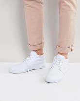 ASOS DESIGN - Bottines Chukka en toile - Blanc - Blanc