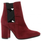 Bottines Nuova Riviera Boots cuir velours bdeaux