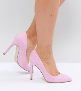 ASOS - PARIS - Chaussures pointues pointure large à talons hauts - Rose