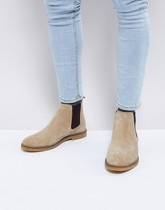 Base London - Ferdinand - Bottines Chelsea en daim - Beige