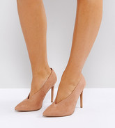ASOS - PRIORITY - Chaussures à talons pointure large - Beige