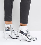 Missguided - Bottines à talons coniques - Argenté