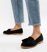 ASOS DESIGN - Messenger - Mocassins à glands en daim - Noir