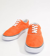 ASOS DESIGN - Tennis Oxford imitation daim, pointure large - Orange - Orange