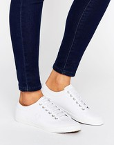 Fred Perry - Kingston - Baskets en cuir - Blanc - Blanc