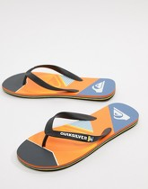 Quiksilver - Slash Fade - Tongs avec logo - Orange - Orange
