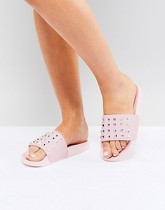 Truffle Collection - Mules cloutées - Rose