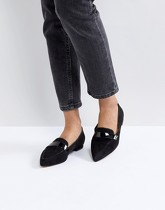 ASOS - LUCY - Ballerines plates pointues - Noir