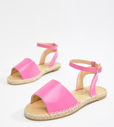 Truffle Collection - Sandales plates style espadrilles - Rose