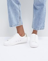 ASOS DESIGN - Delina - Baskets à lacets - Blanc