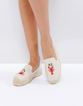 Soludos x Mary Matson - Lobster and Crab - Espadrilles à double plateforme - Naturel - Beige