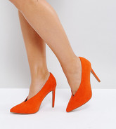 ASOS - PRIORITY - Chaussures à talons pointure large - Orange