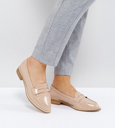 ASOS - MUNCH - Mocassins plats pointure large - Beige
