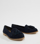 ASOS DESIGN - Messenger - Mocassins à glands en daim - Navy