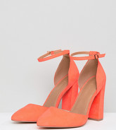 ASOS DESIGN - Pebble - Chaussures pointues à talons hauts pointure super large - Rose