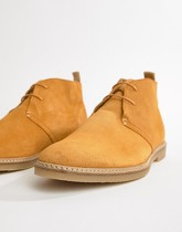 River Island - Bottines Chukka en daim - Moutarde - Jaune
