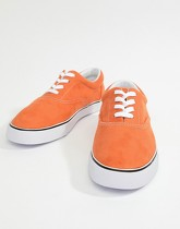 ASOS DESIGN - Tennis Oxford en imitation daim - Orange - Orange