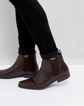 ASOS - Bottines Chelsea - Bordeaux - Rouge