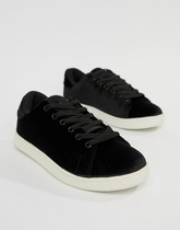 Vero Moda - Baskets en velours - Noir