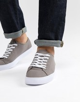 ASOS DESIGN - Baskets en toile - Gris - Gris