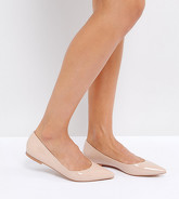 ASOS - LATCH - Ballerines plates pointues - Beige
