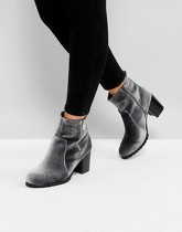Head Over Heels by Dune - Pipaa - Bottines en velours - Gris