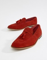 ASOS DESIGN - Mocassins en daim avec glands - Rouge - Rouge